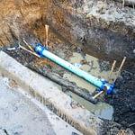 civil leading plumbing pipe